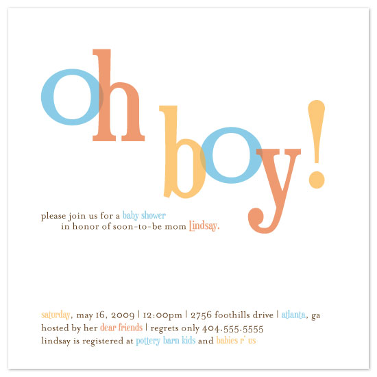 boy oh boy baby shower invitations, Baby shower invitations