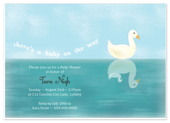 baby shower invitations - Just Ducky by Sharon
