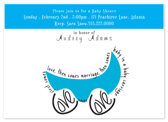 baby shower invitations - Baby Carriage by Sharon