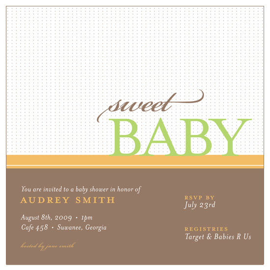 baby shower invitations - Sweet Baby by Sublime Design
