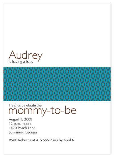 baby shower invitations - Lattice by Autumn