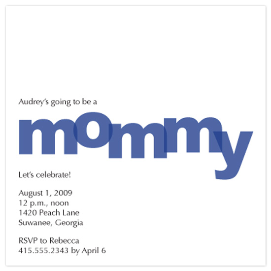 baby shower invitations - mommy! by Autumn