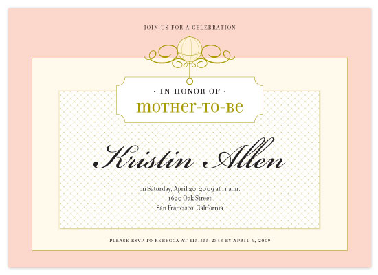 baby shower invitations - Tickled Pink by Alexi Drago Design
