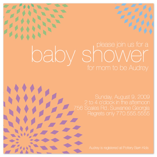 baby shower invitations - diamond circles by Meghan Walsh
