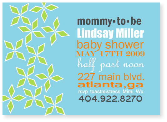 baby shower invitations - placard by Marabou Design