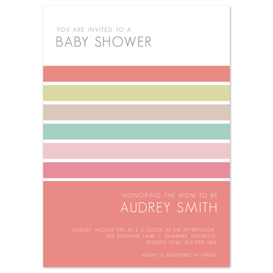 baby shower invitations - Mod Stripes by Sublime Design