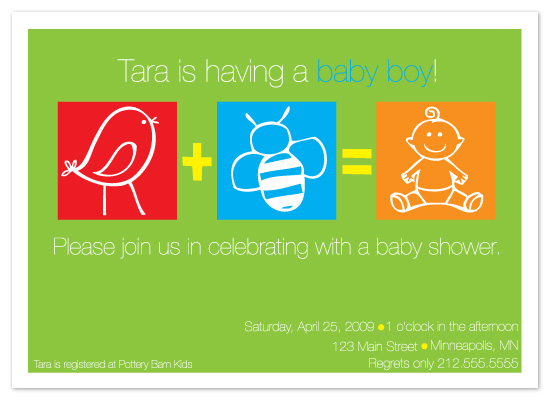 baby shower invitations - The Birds and The Bees by Meghan Walsh