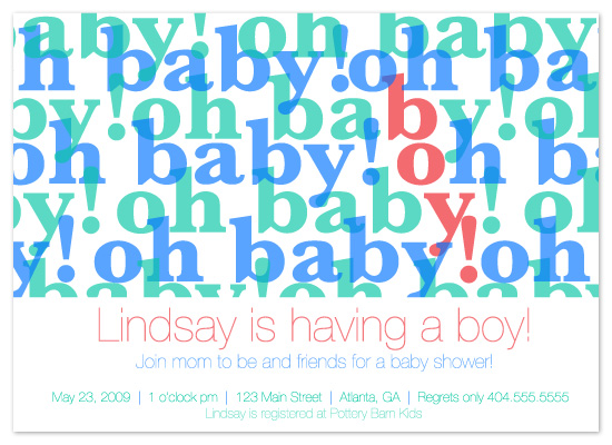 baby shower invitations - oh baby! by Meghan Walsh