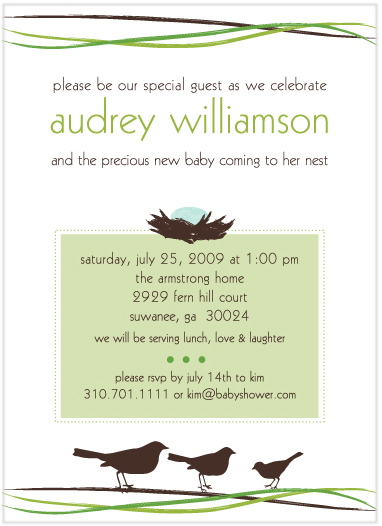 baby shower invitations - Mama's Nest by Mielle Design Studio