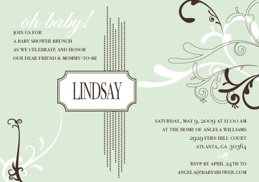baby shower invitations - Delicate Mint by Mielle Design Studio