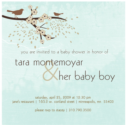 baby bird shower invitations, Baby shower invitations