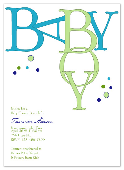 baby shower invitations - Baby Bubbles by Kristin Speck