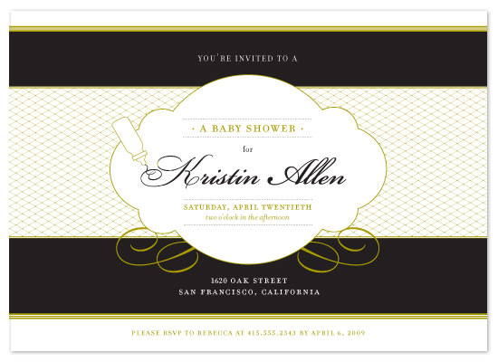 baby shower invitations - Tears of Joy Over Spilt Milk by Alexi Drago Design