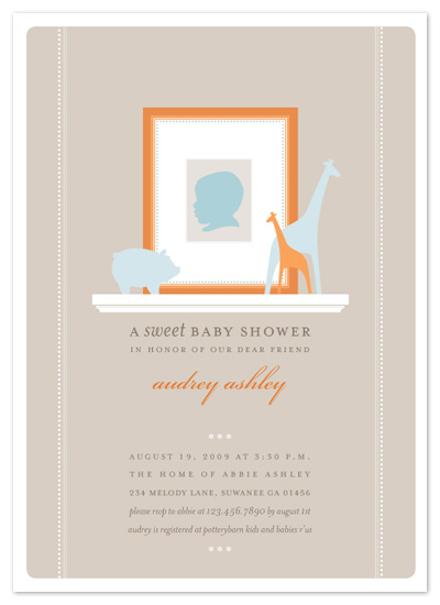 baby shower invitations - baby silhouette by pottsdesign
