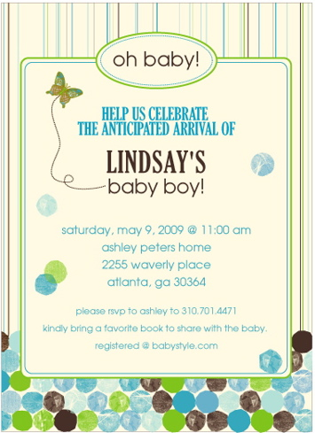 baby shower invitations - Happy Dots by Mielle Design Studio