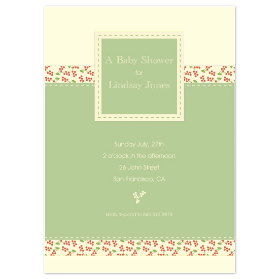 baby shower invitations - Soft Poppies by l