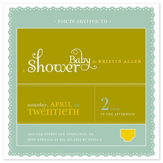 baby shower invitations - A Bit of This, A Bit of That by Alexi Drago Design