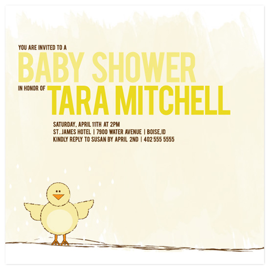 baby shower invitations - Little Spring Hatch by Heidi