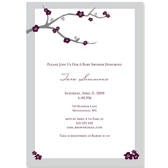 baby shower invitations - Modern Blossoms by jamesdesign