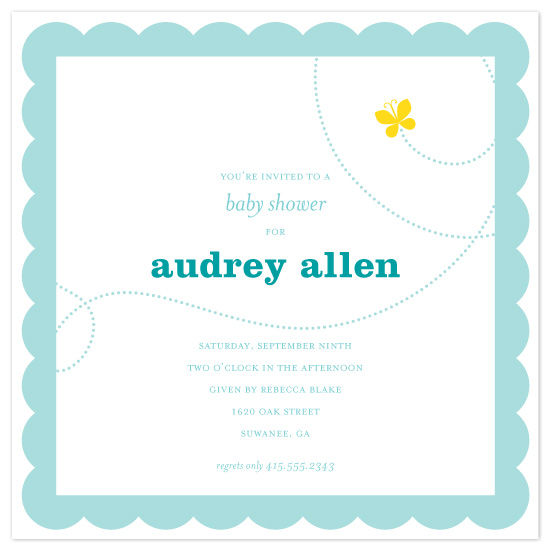 baby shower invitations - butterfly baby by suite p