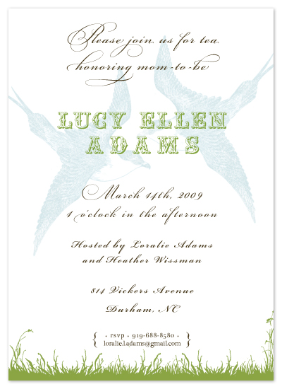 baby shower invitations - Little Birds by Heather Forsythe