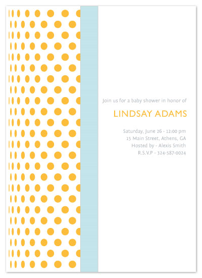 baby shower invitations - Curved by Madhvi