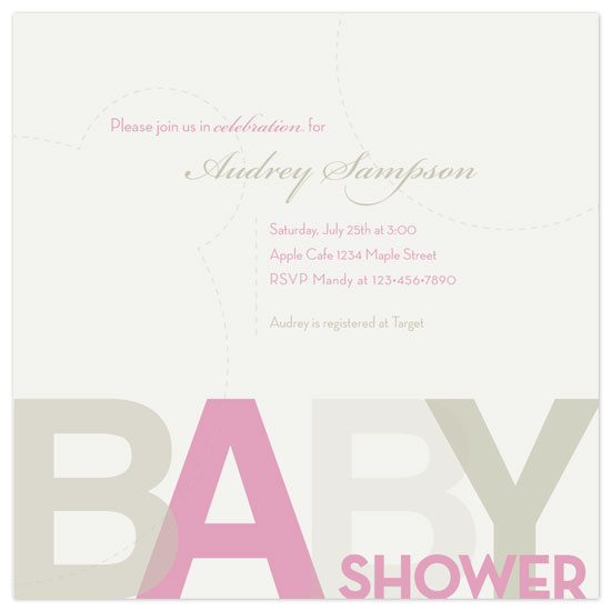 baby shower invitations - Pink A by Amy