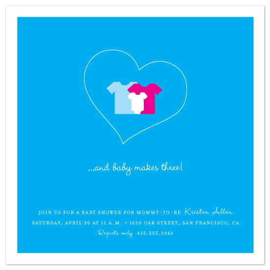 baby shower invitations - Baby Makes Three! by Amanda Larsen Design