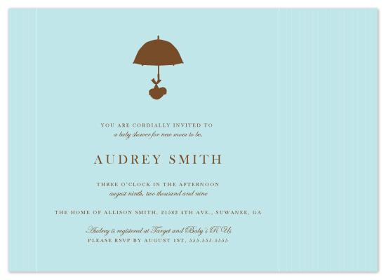 baby shower invitations - Baby Umbrella by Kristy Fischer