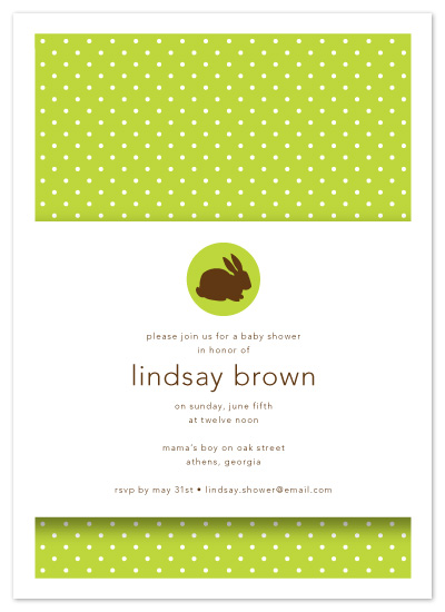 baby shower invitations - Some Bunny's Having a Baby! by Maddy Hague