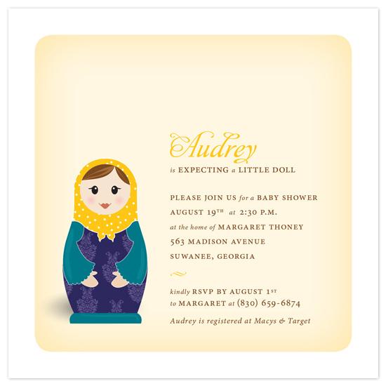 baby shower invitations matryoshka by paper plains