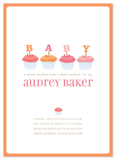 baby shower invitations - cupcakes by pottsdesign