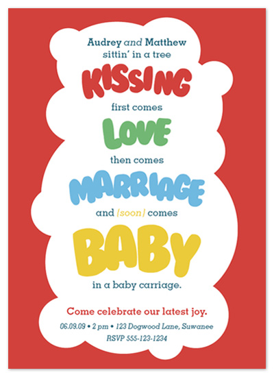 baby shower invitations - Old School Love by Kristen Cox (aka The Future Mrs. Darcy)