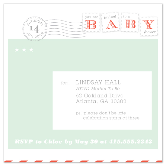 baby shower invitations - special delivery by Laura Coggins