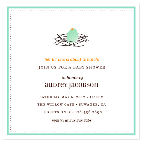 baby shower invitations - About to Hatch by sweet street gals