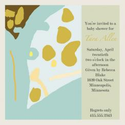 Nature Baby Invitation