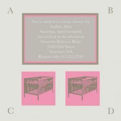 Modern Crib Invitation