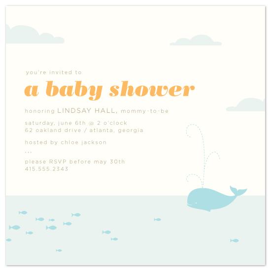 baby shower invitations - sea baby by Laura Coggins