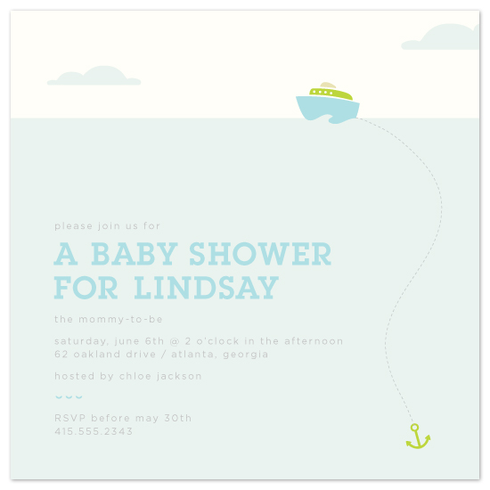 baby shower invitations - little harbor by Laura Coggins