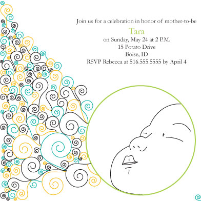 baby shower invitations - Baby Dream by Meggie Kaplan