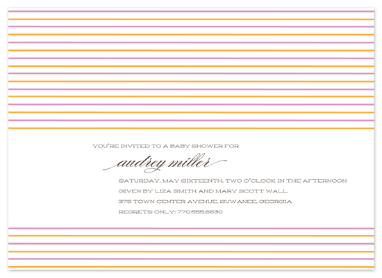 baby shower invitations - Marrakesh by beth perry DESIGN