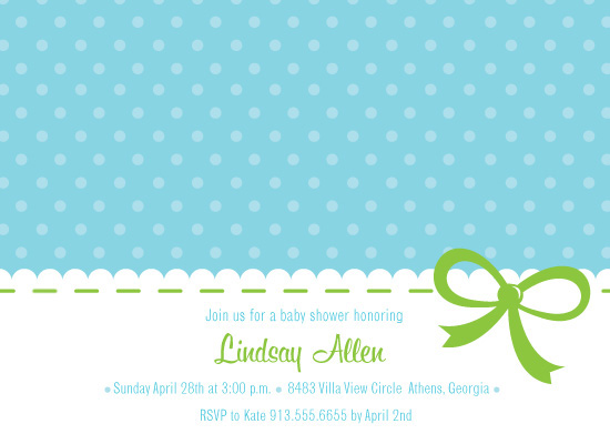 baby shower invitations - Ribbon and Lace by Orange Blossom Ink
