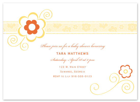 baby shower invitations - Modern Shower by Orange Blossom Ink
