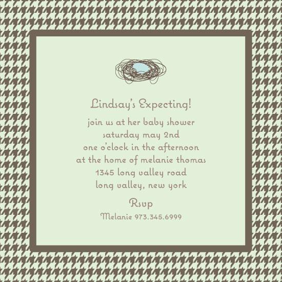 baby shower invitations - Nesting by Elizabeth Caldwell