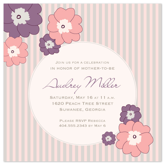 baby shower invitations - Vintage mommy flowers by Christen Kim