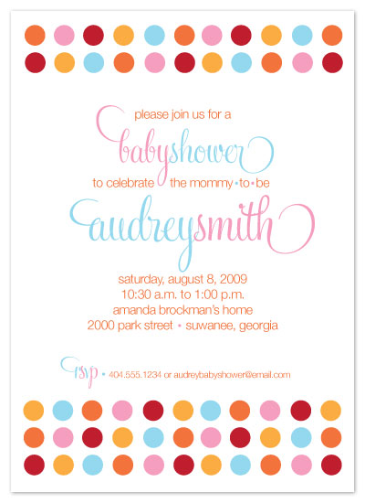 baby shower invitations - Mod Dots by Designs by Tamiko