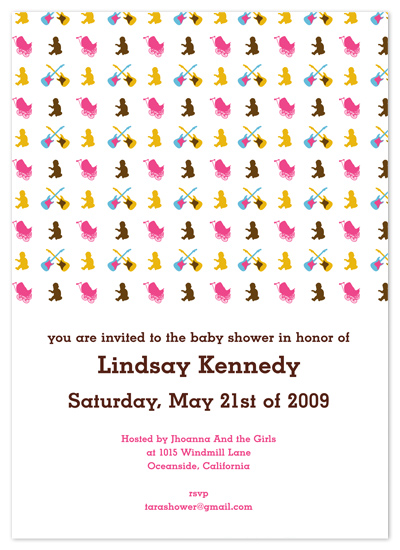 baby shower invitations - Baby Rock by Andres Montaño