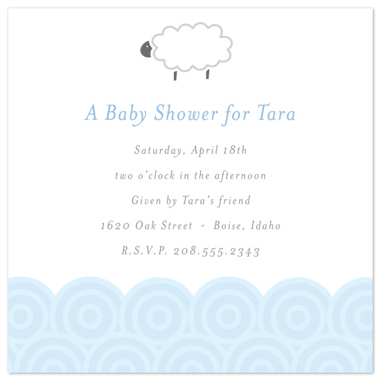 baby shower invitations - Baby Boy Sheep by Catherine