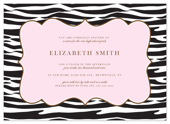 party invitations - Zebra Chic' by Kristy Fischer