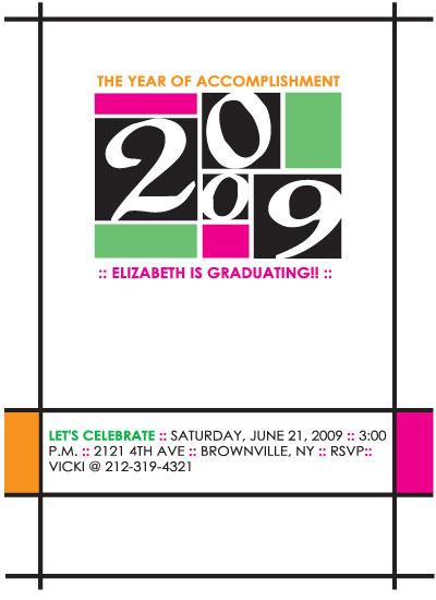 party invitations - Mod Art Class of 09 by Jenn Lauren